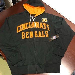 NFL Cincinnati Bengals Full Zip Hoodie Size Large.